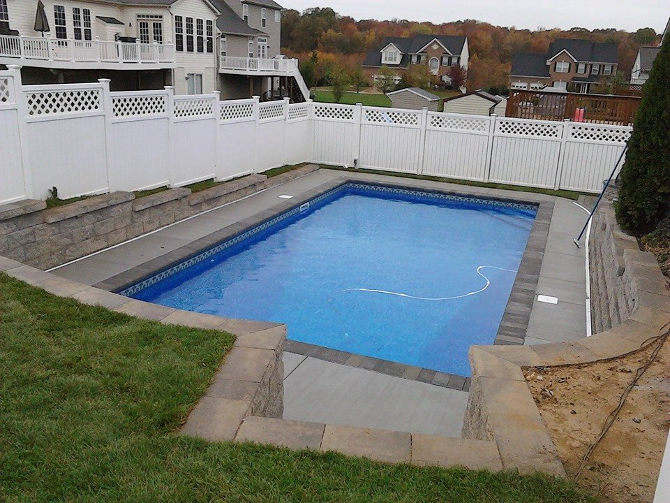 Anne arundel concrete pool installation maryland pool for Fiberglass pool installation
