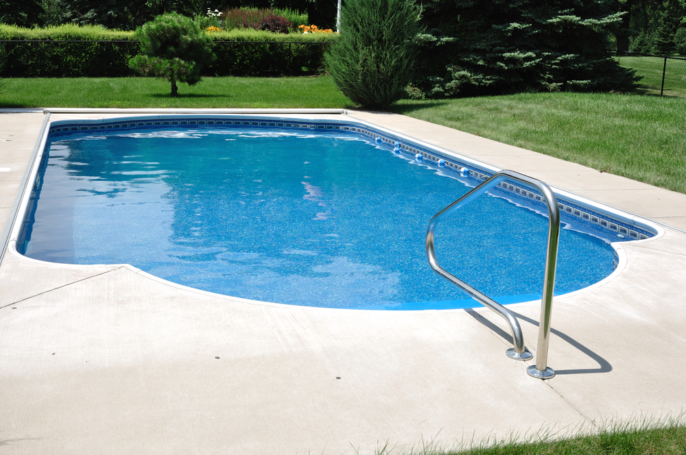 Harford County Concrete Pool Deck